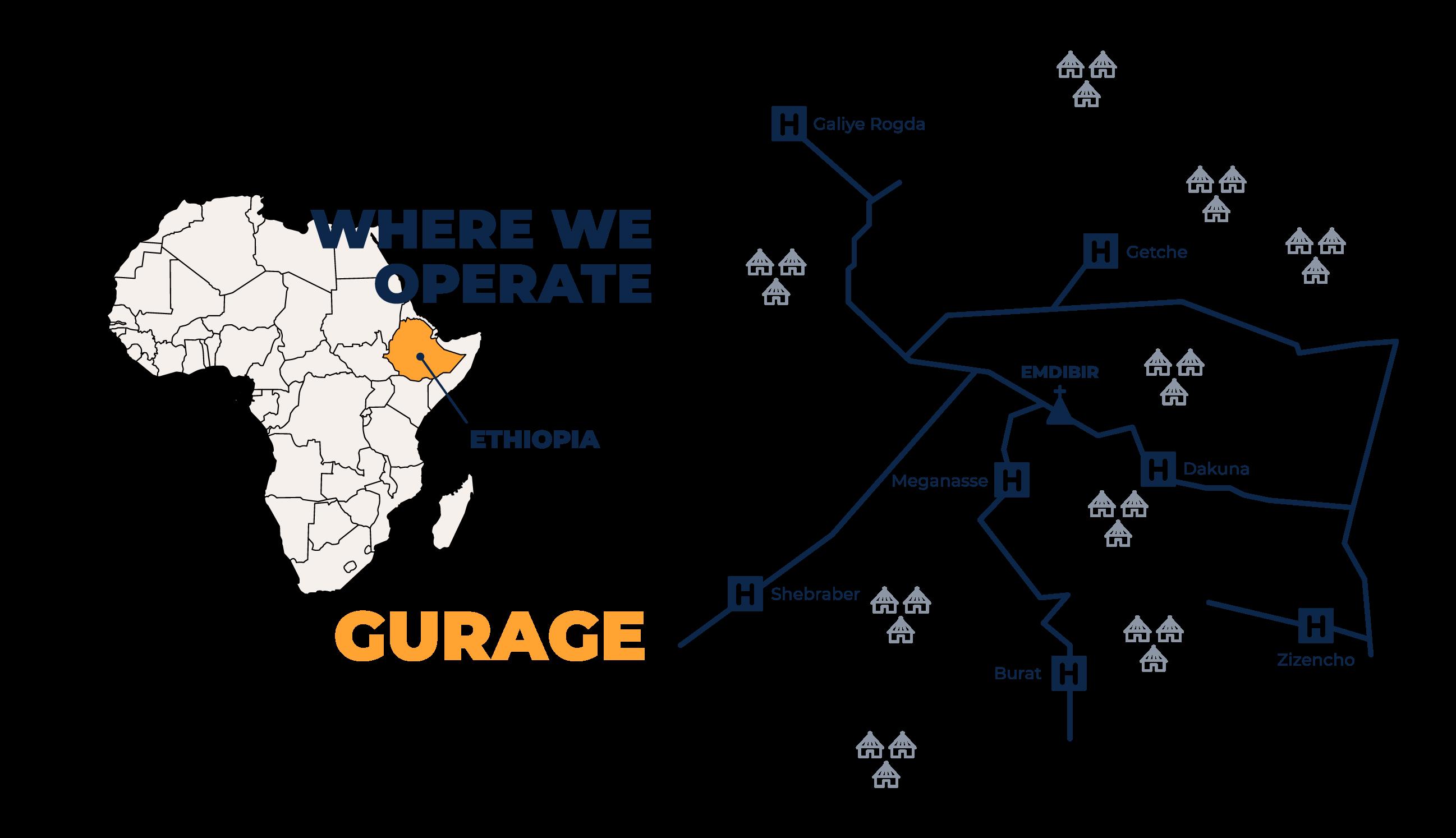 Gurage map