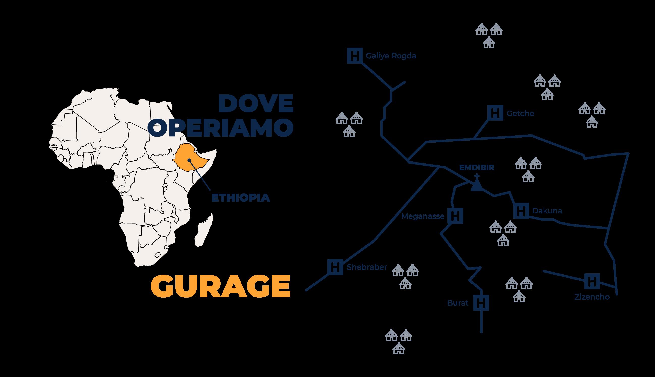 Mappa del Gurage